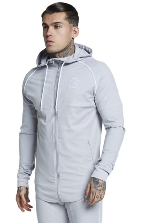 Jacket SikSilk Zonal Zip Grey Ice
