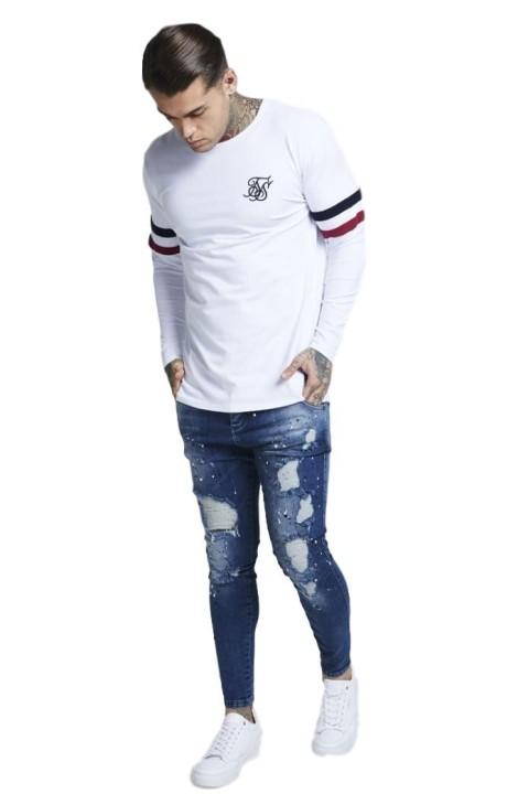 T-shirt Sangles de BON à RIEN, des Lignes Blanches Rouge