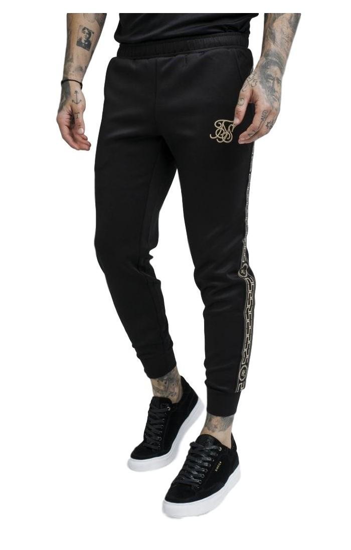 Pantalón chándal SikSilk Cartel recortados Negro