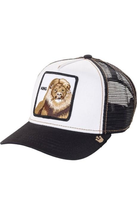 Cap, Goorin Bros Trucker Lion King Black and White