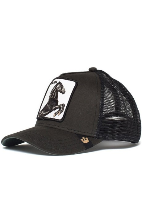 Cap, Goorin Bros Trucker Horse Spirit Stallion Black