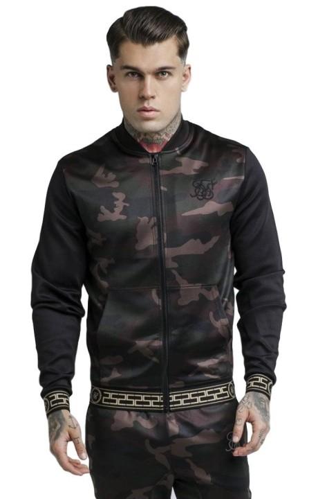 Jacket SikSilk Contrast Camo Black