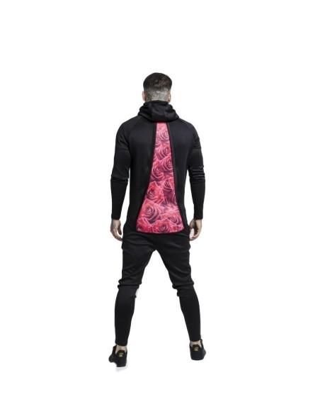 Camiseta Gianni Kavanagh Negro detalles Rosa
