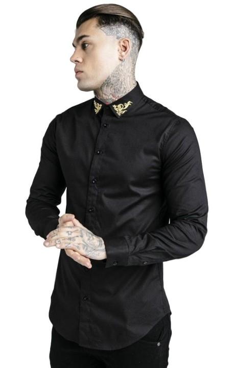 Camisa SikSilk ajustada negra x Dani Alves