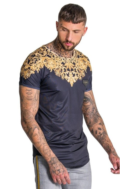 Camiseta Gianni Kavanagh Negra Barroco