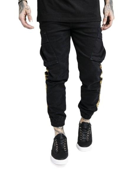Pantalón de Carga SikSilk negro x Dani Alves