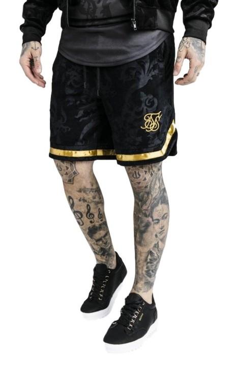 Pantalón corto SikSilk Terciopelo negro x Dani Alves