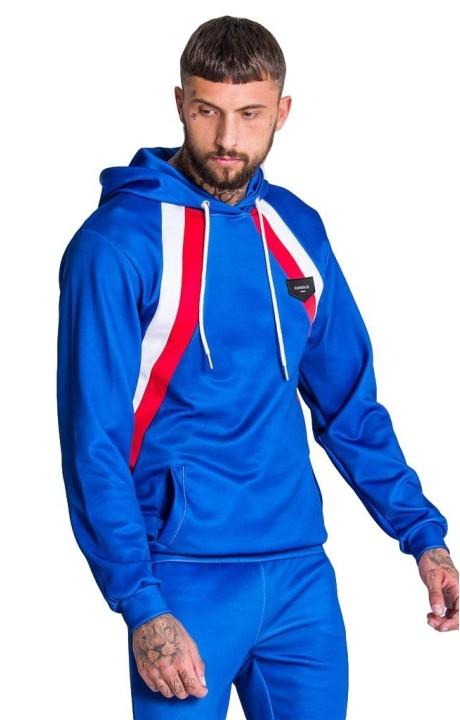 Sweat-shirt Gianni Kavanagh bleu avec des bandes diagonales