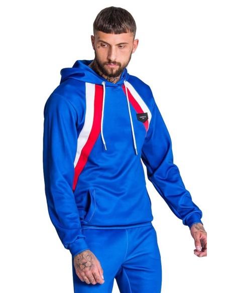 Sudadera Gianni Kavanagh azul con rayas diagonales