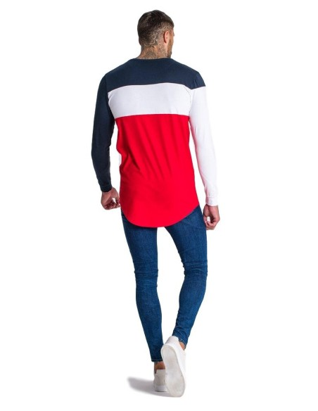 Camiseta Gianni Kavanagh Rubik azul marino, blanco y rojo