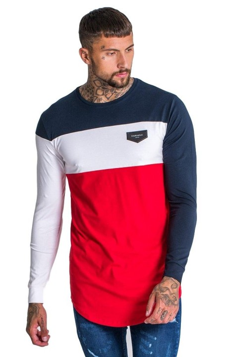 T-shirt Gianni Kavanagh Rubik's cube navy blue, white and red