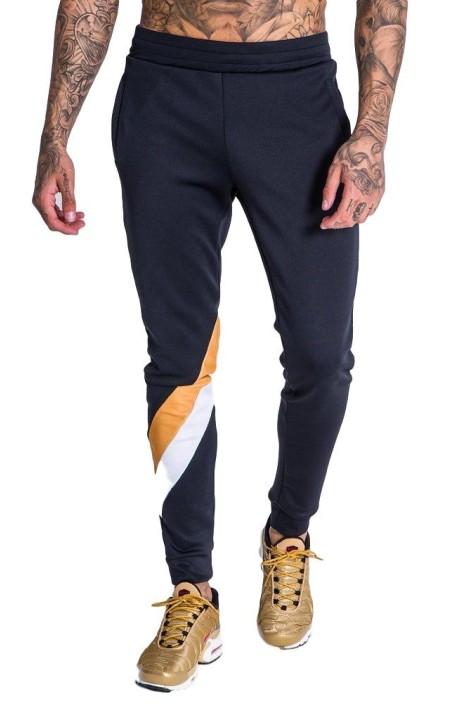 Pantalón chandal Gianni Kavanagh negro con rallas
