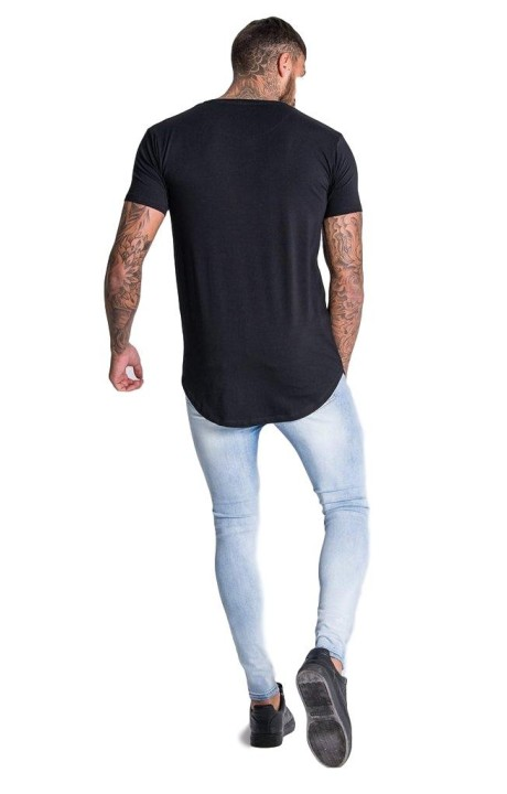 Shirt by SikSilk long sleeve Raglan Navy