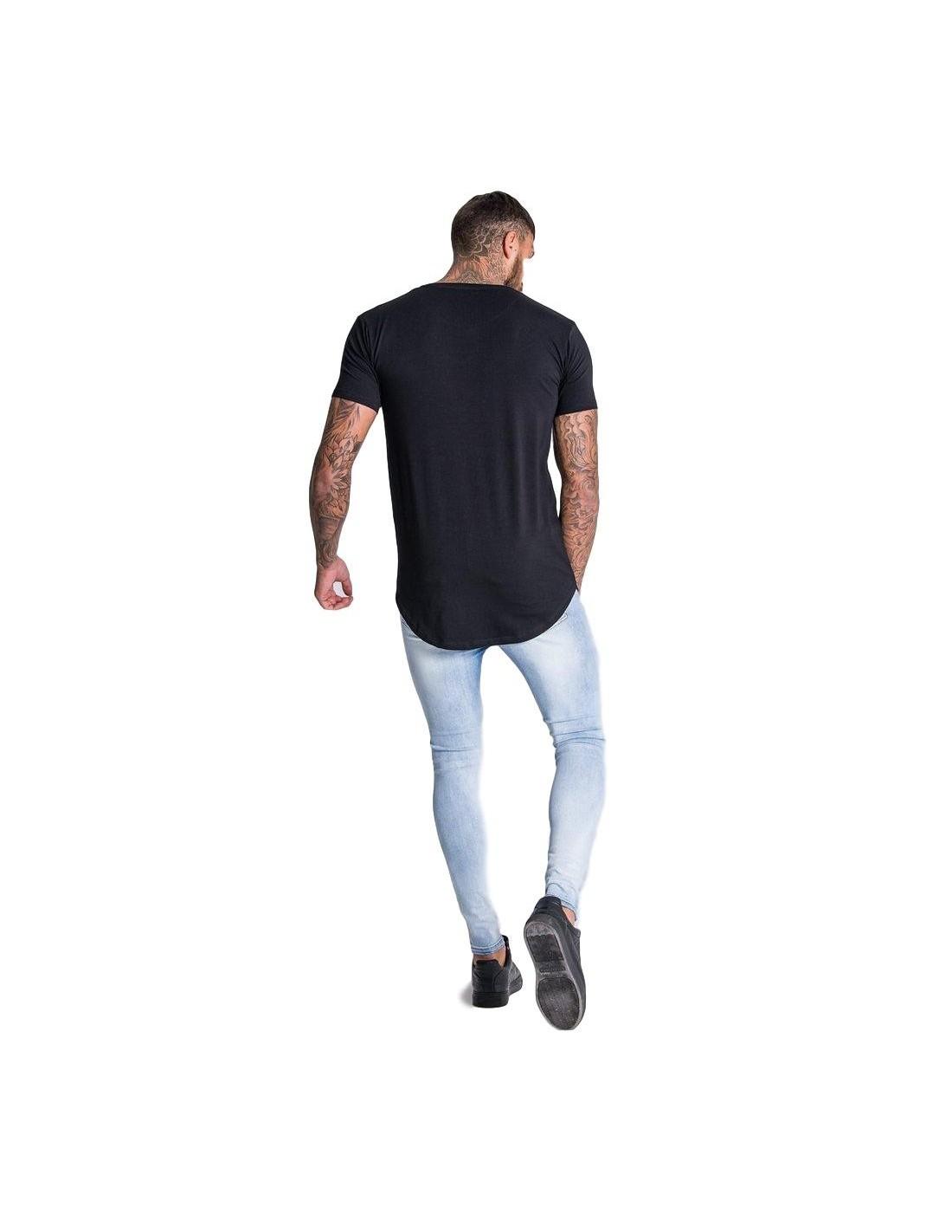 Camiseta SikSilk manga larga Raglan Marino
