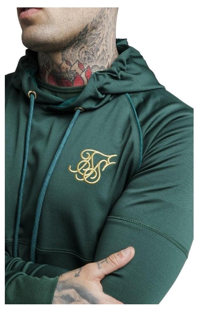Sudadera Siksilk Zip Through Zonal Hoodie Rich Green