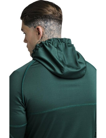 Sudadera Siksilk con capucha y cremallera - Rich Green