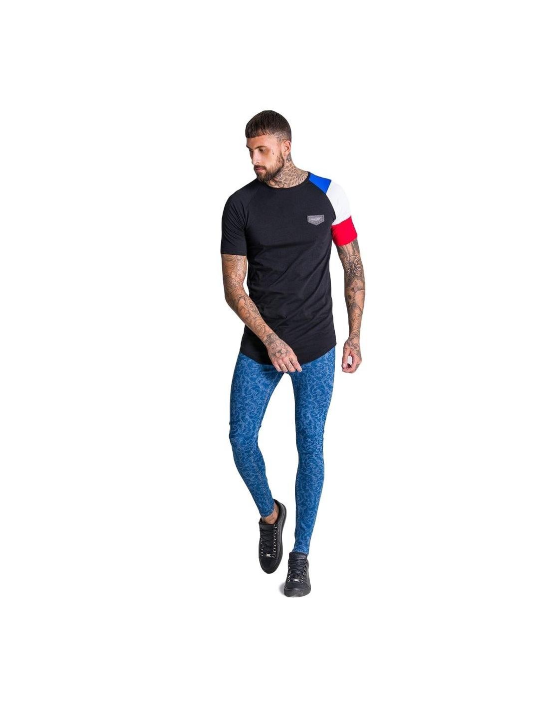 e3f833e832b68 T-shirt Gianni Kavanagh à manches longues en noir et rouge