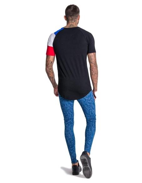 T-shirt Gianni Kavanagh à manches longues en noir et rouge