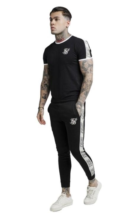 T-shirt Gianni Kavanagh à manches longues en blanc et rose