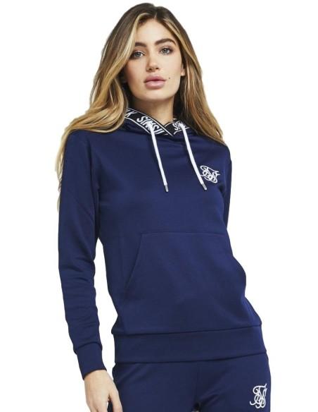 Sudadera con capucha SikSilk Elastic Poly Azul oscuro
