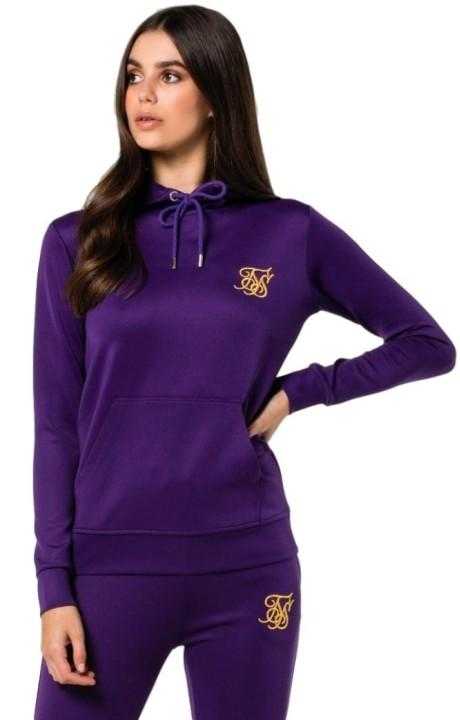 Sweatshirt with hood SikSilk Overhead Hoodie Purple
