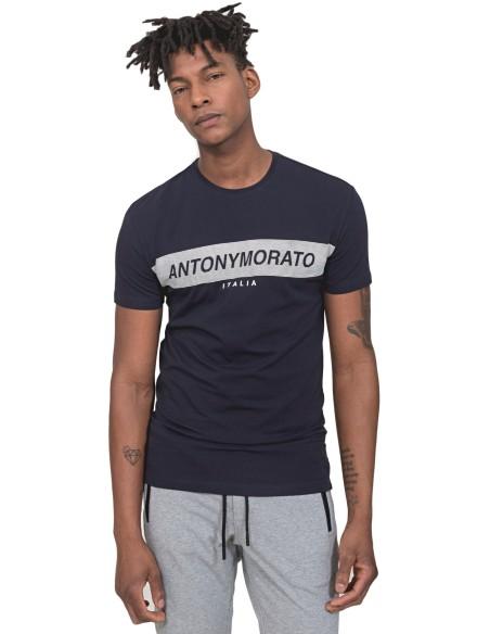 Camiseta Antony Morato azul marino Banda con logo
