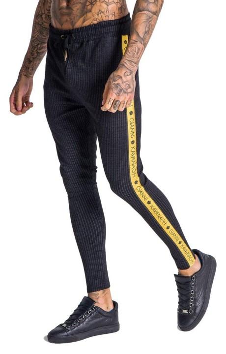 Pantalones Gianni Kavanagh con cinta negra dorada GK