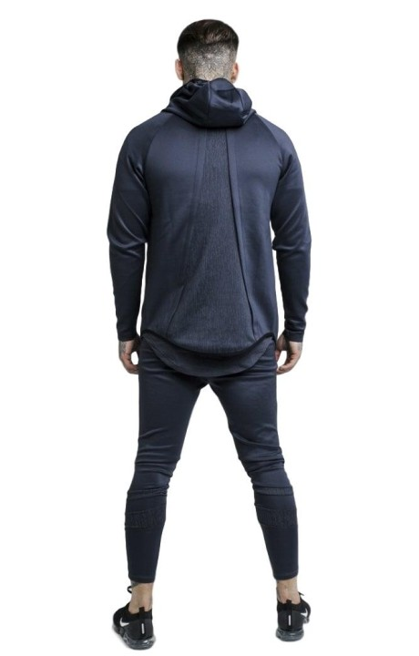 Sweatshirt SikSilk Hoodie With Sprint To Urban Green