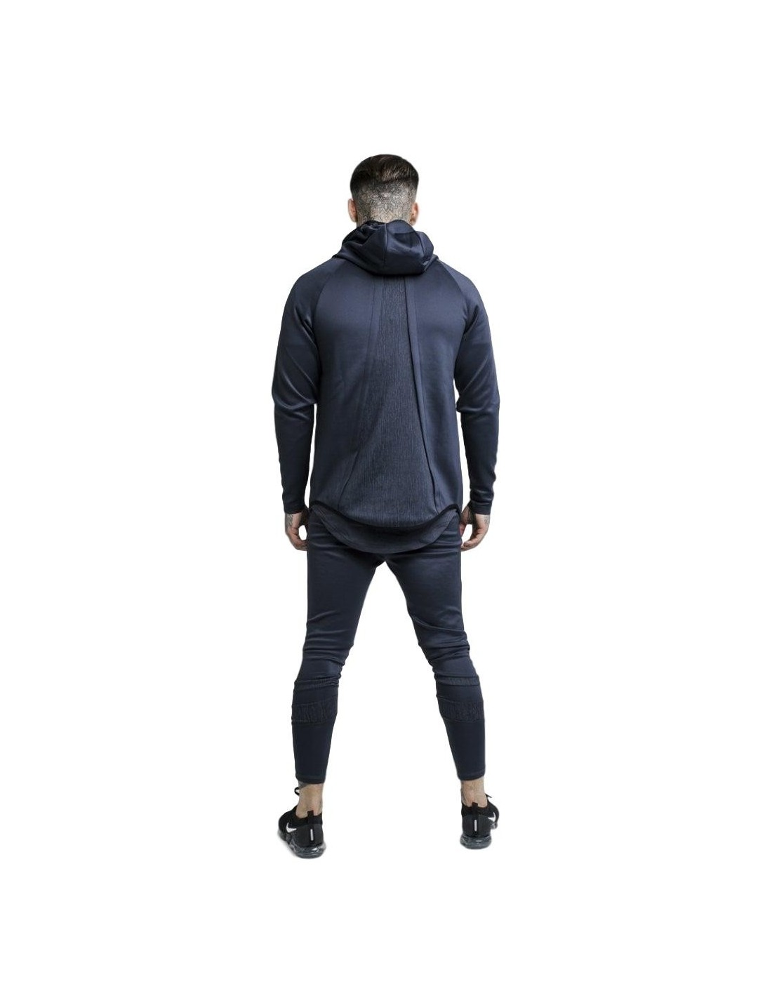 Sweatshirt SikSilk Hoodie With Sprint To Urban Green