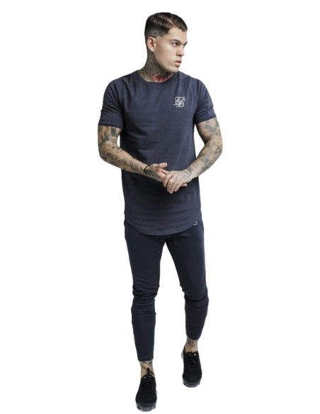 Camiseta SikSilk Raglan Reflect Tee - Antracita