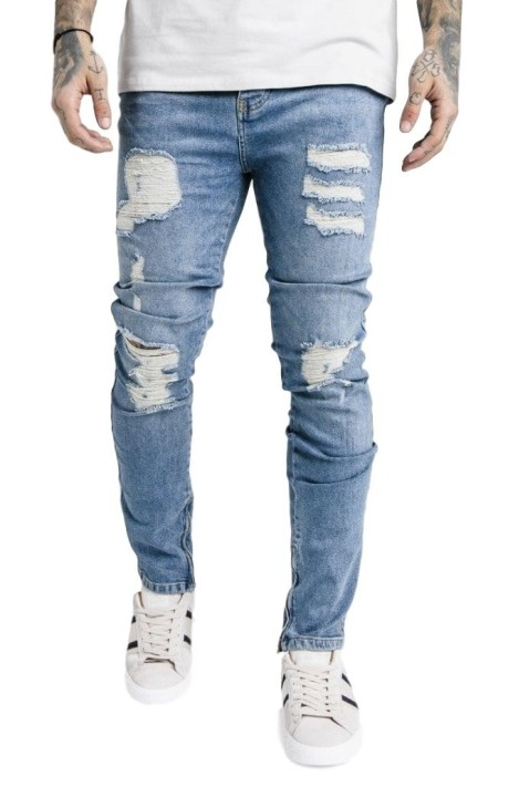 Jeans SikSilk Vintage Denim - Blue