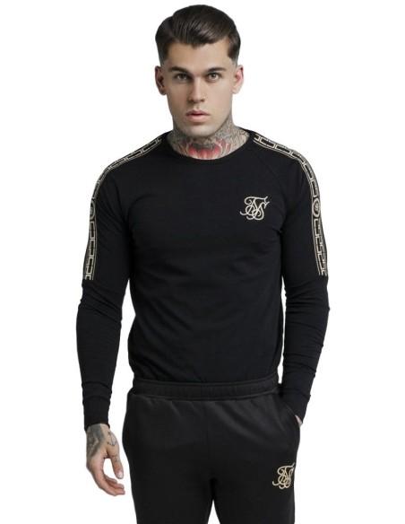 Camiseta SikSilk De Torneo Negro y Caqui