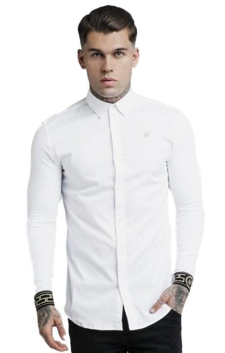 Camisa SikSilk Cartel - Blanco y Dorado