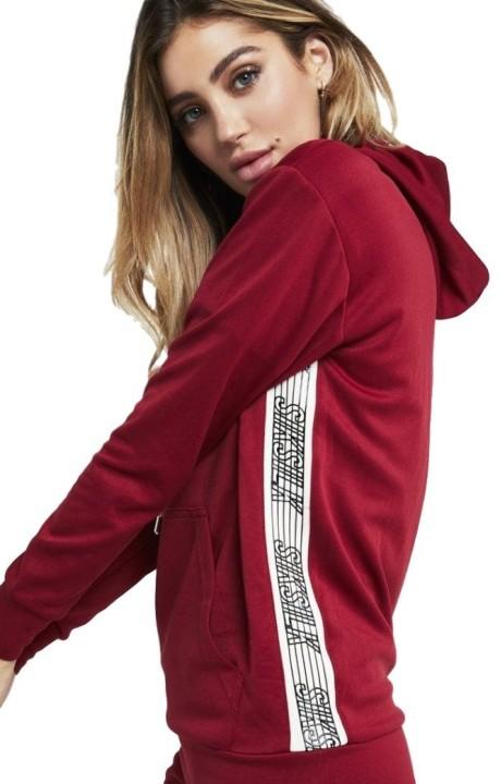 Sweatshirt with hood SikSilk Runner - Red