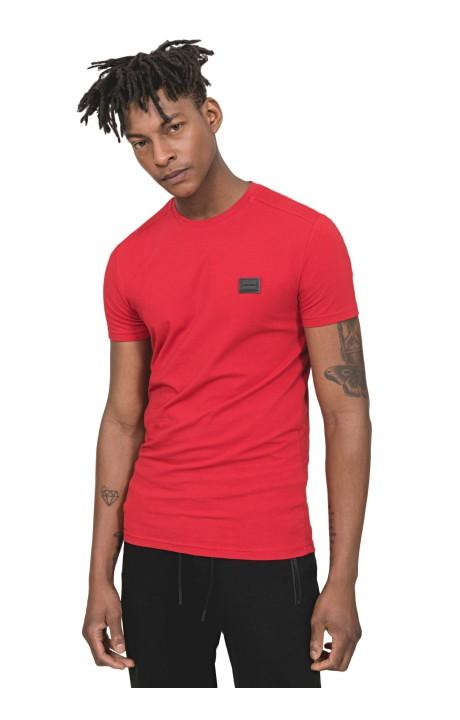 Camiseta Antony Morato Slim Fit con Placa Rojo
