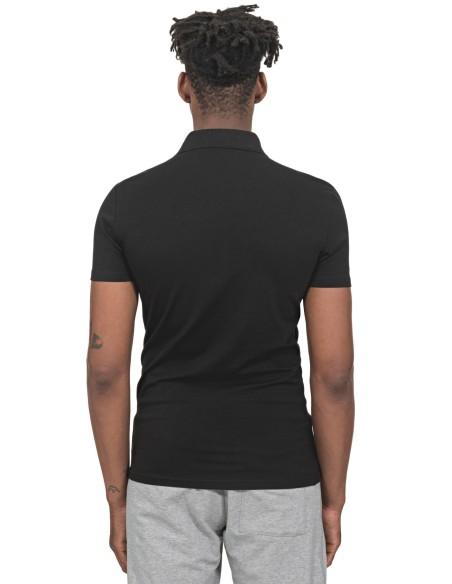 Polo Antony Morato Slim Fit con Placa Negro