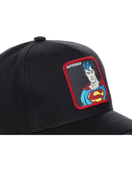 Gorra Capslab Superman clásico Comics negra
