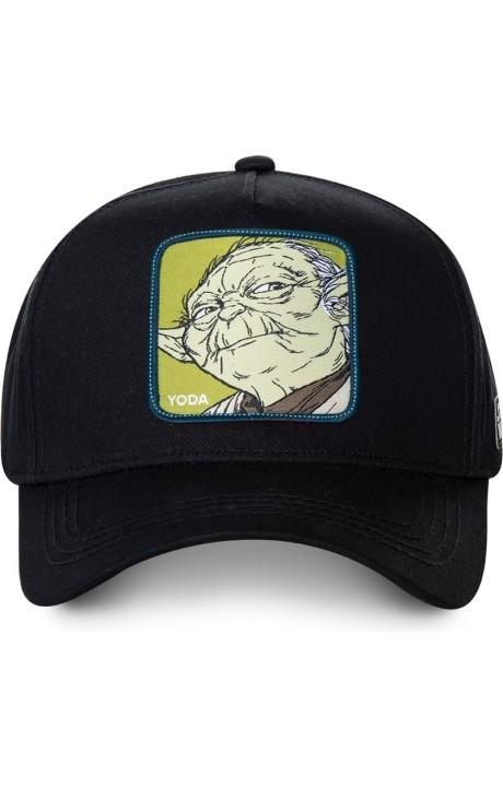 Gorra Capslab negra Yoda Star Wars