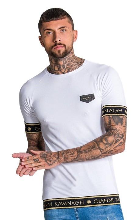 Camiseta Gianni Kavanagh Blanca Elástico GK Gold Lurex