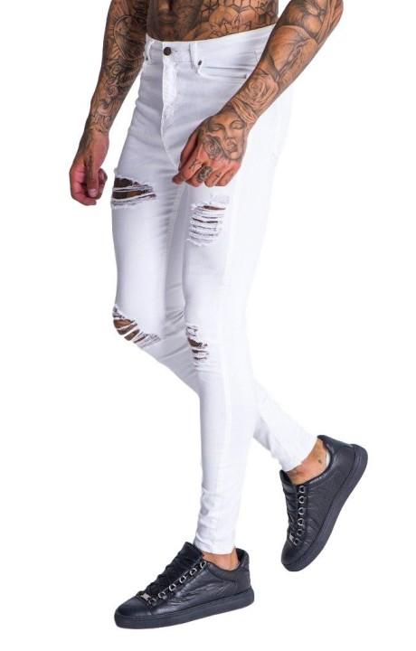 Jeans Gianni Kavanagh white worn