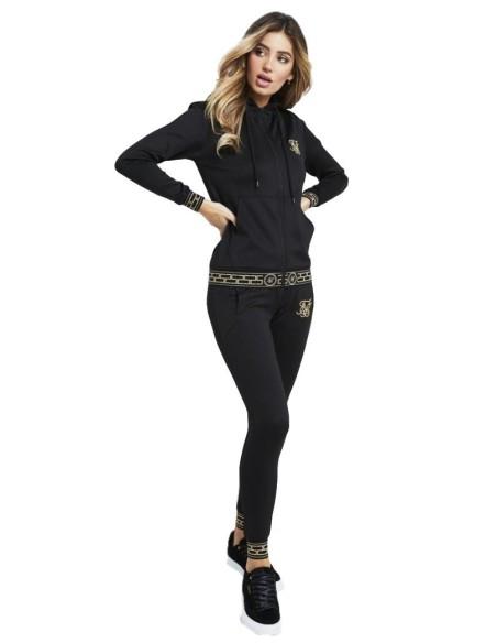 Sudadera con capucha SikSilk Athena Negro