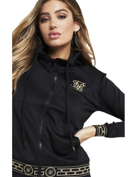 Sweatshirt with hood SikSilk Athena Black