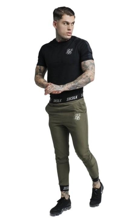 Sweat-Shirt SikSilk Affiche Poly Généraux Noir
