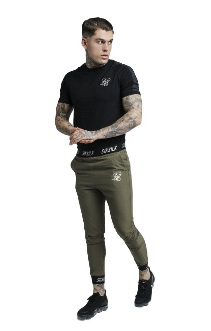 Sweatshirt SikSilk Poster Poly Overhead Black