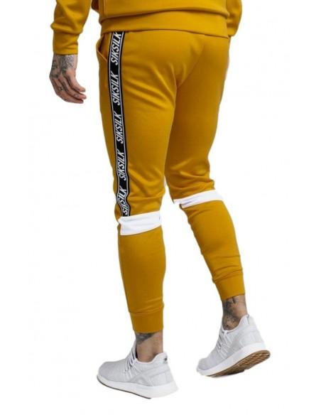 Pantalones SikSilk poliéster recortados color Mostaza