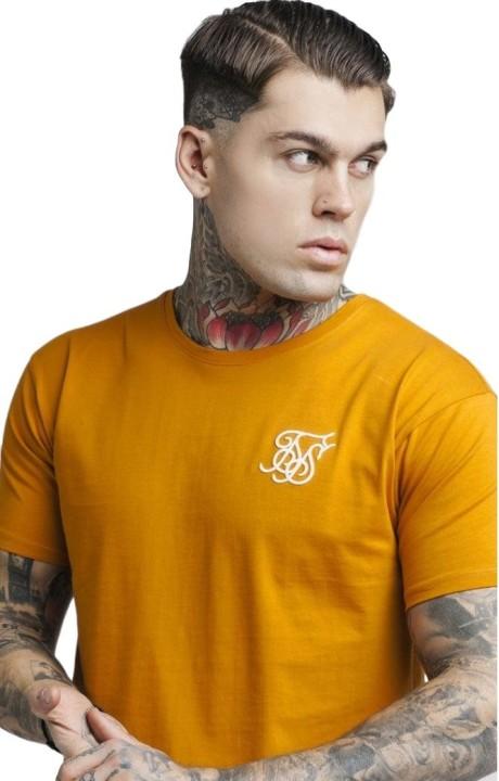 Chemise par SikSilk ourlet avec Orange