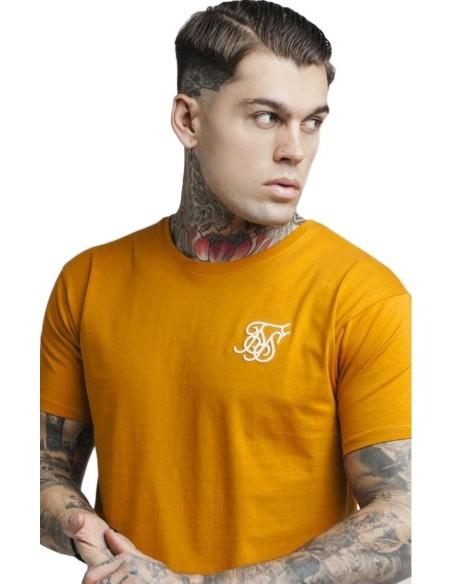 Camiseta SikSilk con dobladillo Naranja