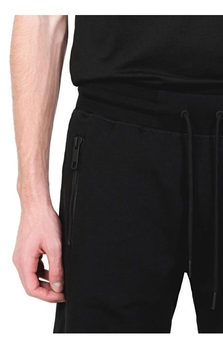 T-shirt Gianni Kavanagh noir avec élastique Lurex or