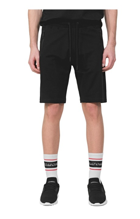 Shorts Antony Morato Negro De Felpa