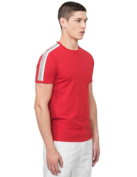 Camiseta Antony Morato Roja Con Cinta y Logo